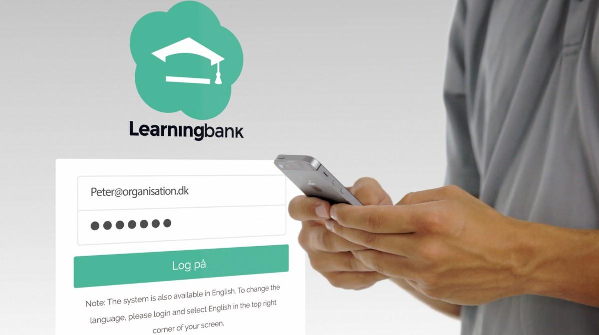 learningbank præsentationsfilm produktion på hvid baggrund og med animationer